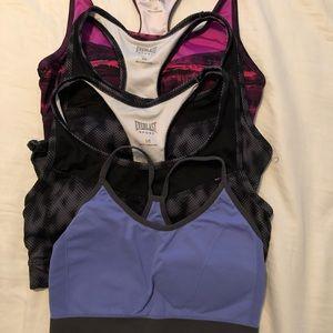 Four Everlast sports bras.